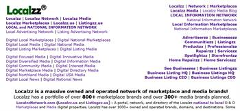 Localzz is a massive owned and operated network and portfolio of media and marketplace brands!